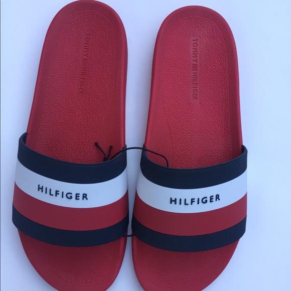 d77bdca9185a07 NWT Men Tommy Hilfiger Sandals Flip Flops